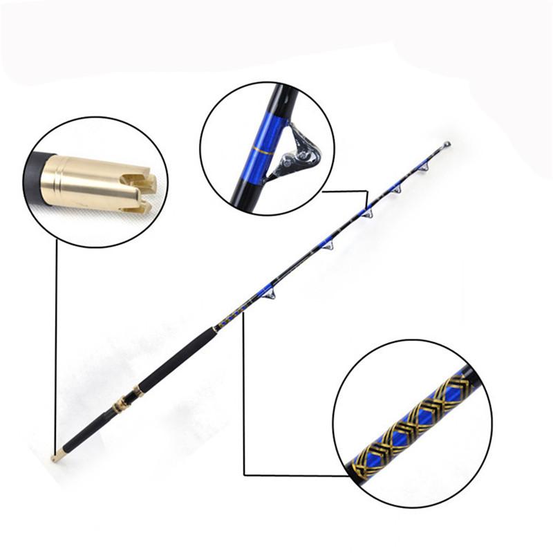 China factory price Free shipping FX80130 Boat fishing trolling rod nylon butt 50lbs 80lbs 130lbs jigging rod, Blue