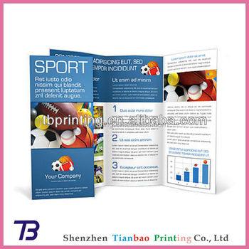 custom advertising paper pamphlets sample design