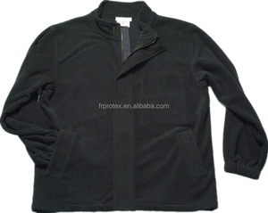 Modacrylic Cotton Anti-static Work Wear Uniform FR Safety Double Side Brushed Fleece Jacket
