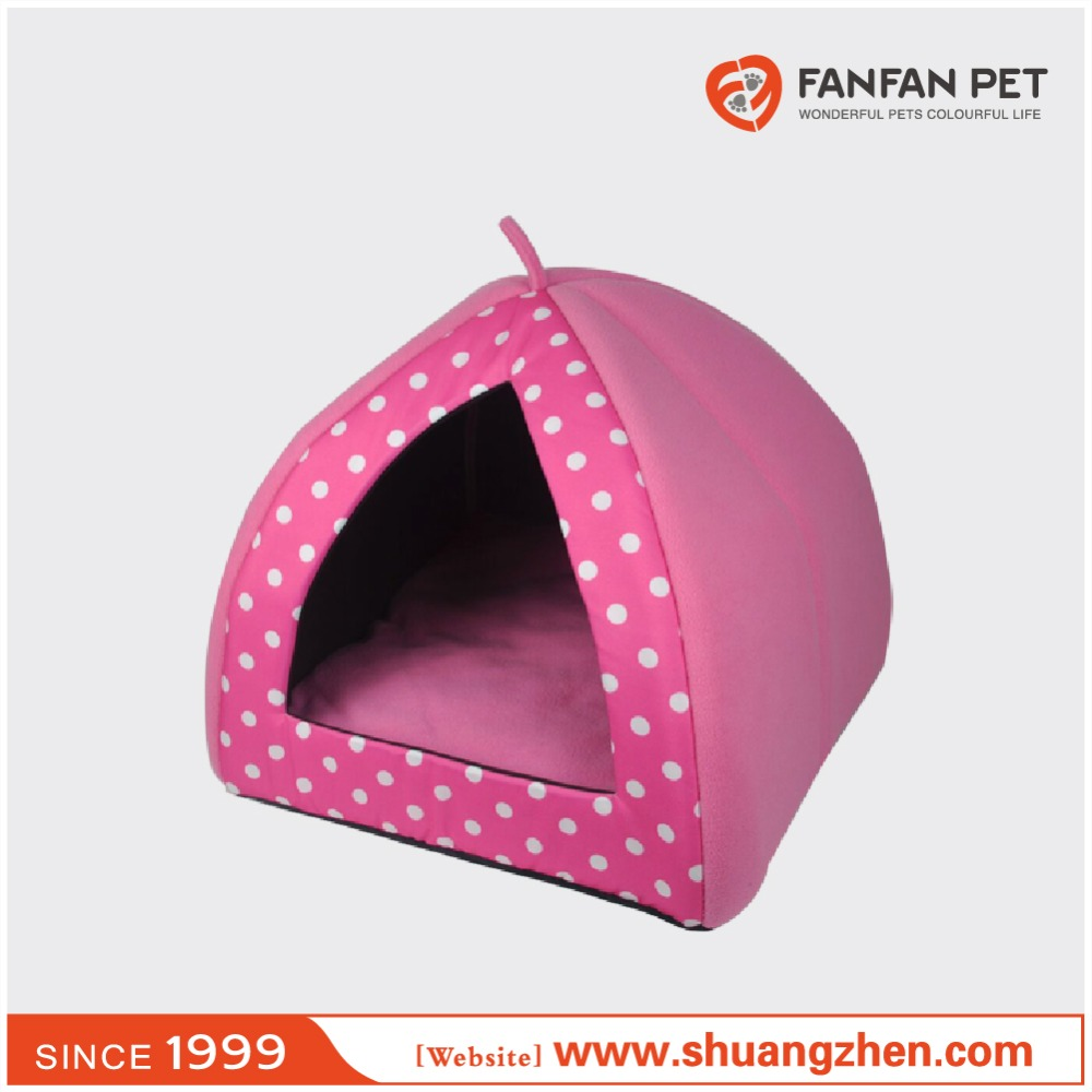 The new fashion round dots collapsible pet nest kennel dog house yurt