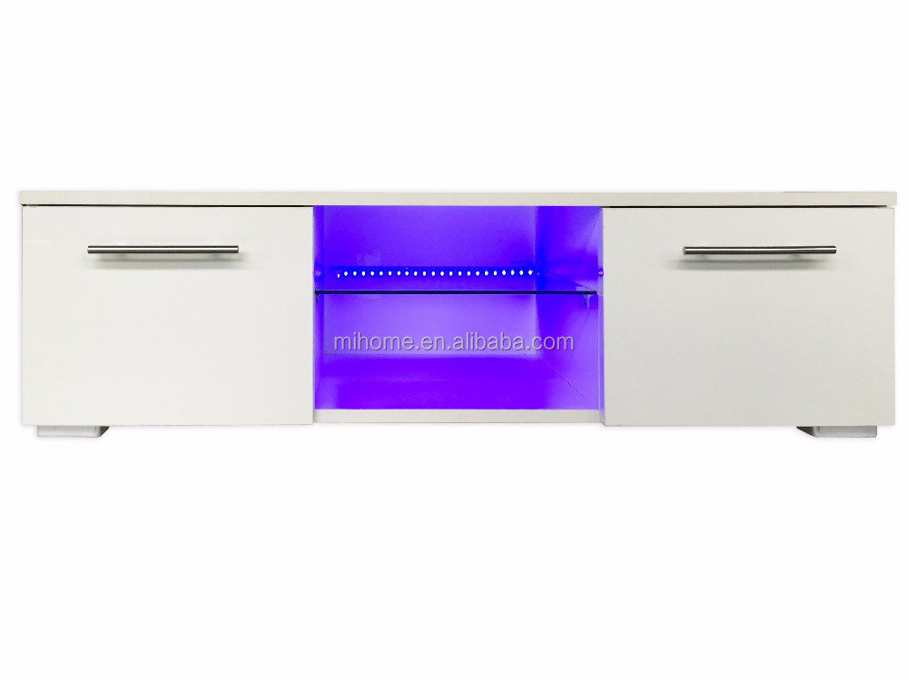 Blue LED light TV stand and TV cabinet