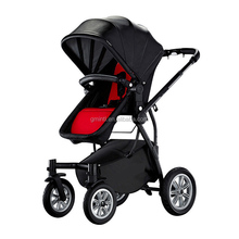 Aluminum frame baby stroller with spacious seat baby stroller 2017 big baby doll stroller wheels