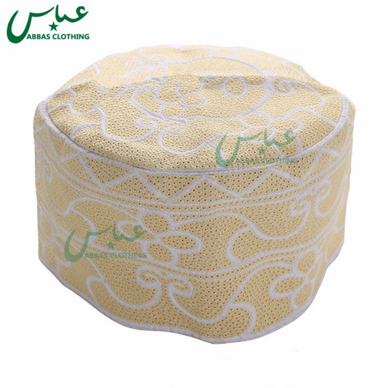 Bulk Stock  Saudi Cap Hard Prayer Cap for Men Muslim Prayer Cap