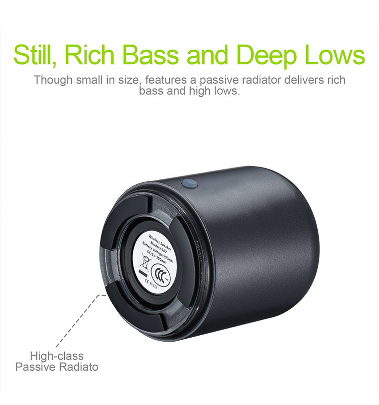 Rechargeable battery super sound TWS mini wireless speaker