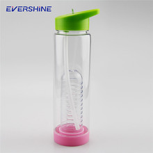 Low cost bpa free plastic water bottles with fruit infuser