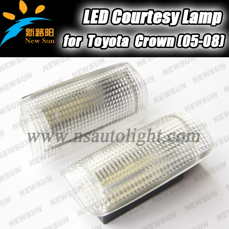New for toyota led door courtesy welcome light fit for Crown For Lexus is for FT-86 DC 12V no error led door courtesy lamp