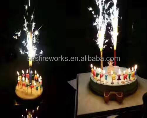 Wholesale 12cm 45s Indoor Magic Cold Flame Happy Birthday Cake Sparkler Candle Fireworks