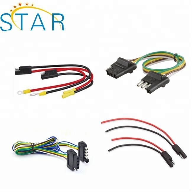 Customized Automotive 4 Way 5 Way Flat Trailer Light Wire