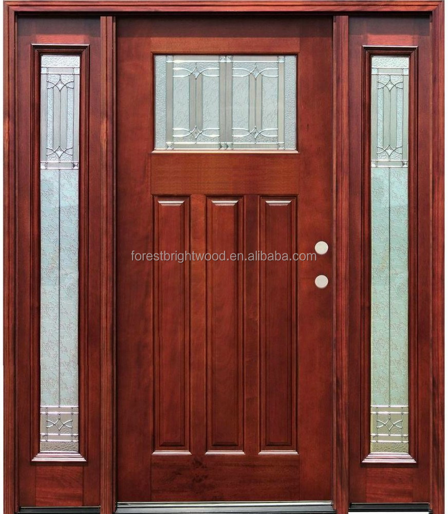 Mahogany Exterior Front Entry Solid Wood doors