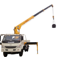 Telescopic boom 5 ton hydra small lift crane