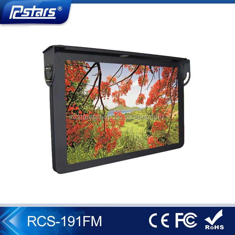 19 inch bus monitor car lcd monitor with hdmi/vga/dvi inputs(RCS-191FM)