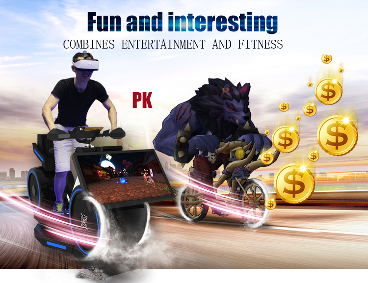 Indoor amusement equipment vr bike racing game machine with Reality Sport Games