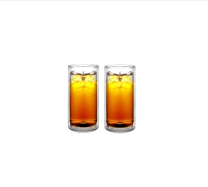 Customize Strong Double Wall Thermo Glass Tumblers for Beer/Cocktail/Lemonade/Iced