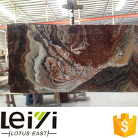 Italy red color fantastico onyx for natural and polished