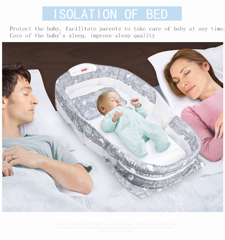 2019 Hot Sale Baby Toy Newly 2-IN-1 Convenient Portable Easy Carry Baby Bed For Lovely Baby In Night Sleep