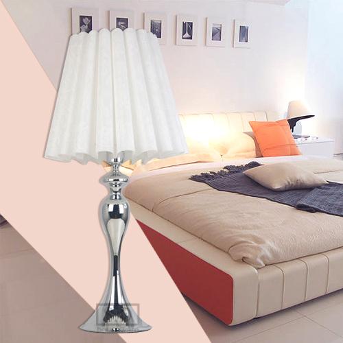 Modern Table Lamp Bedroom Lamp Elegant Pure White