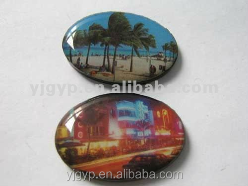 Promotional Cheap customized 3D epoxy fridge magnet