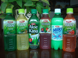 OKF aloe drinks with various flavors