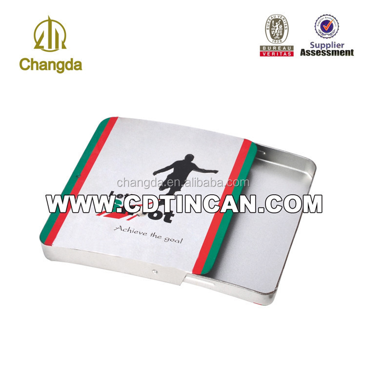 Rectangular Small Tin Cans With Embedded Silde Lid cigarette tin cases