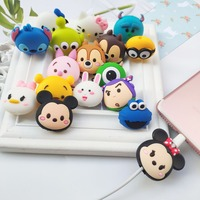 2019 Hot selling Cartoon silicone Data line cable protector cover winder organizer For Data line