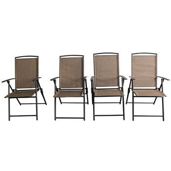 Outdoor Garden Patio Steel Teslin Fabric Chair With Plastic Armrest Folding  Sling Chair   Buy Folding Sling Chair,Cheap Plastic Patio Chairs,Outdoor ...