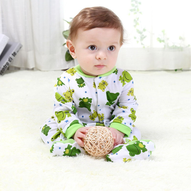 2015 Autumn Winter Baby Jumpsuit 100% Cotton Baby Boys Girls Bodysuits Long Sleeve Baby Bodysuit Newborn Infant Baby Clothing