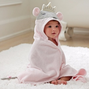 organic bamboo baby hooded towel animal design baby hooded bath towel set