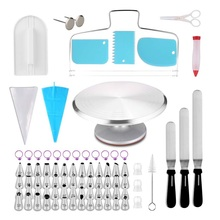 2019 nieuwste 100 stuk <span class=keywords><strong>taart</strong></span> <span class=keywords><strong>decoreren</strong></span> <span class=keywords><strong>kit</strong></span> omvat cake decorating piping tips en spuitzak cake decorating