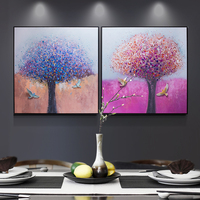 Handmade Wall Art 3D Resin Relief Painting For Office Decoration