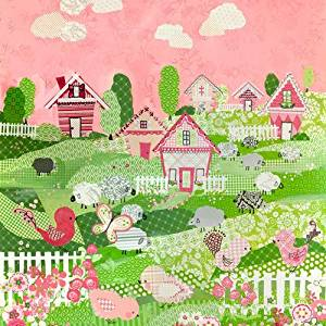 Oopsy daisy, Fine Art for Kids Counting Sheep and Birdies Pink Stretched Canvas Art by Winborg Sisters, 21 by 21-Inch by Oopsy Daisy