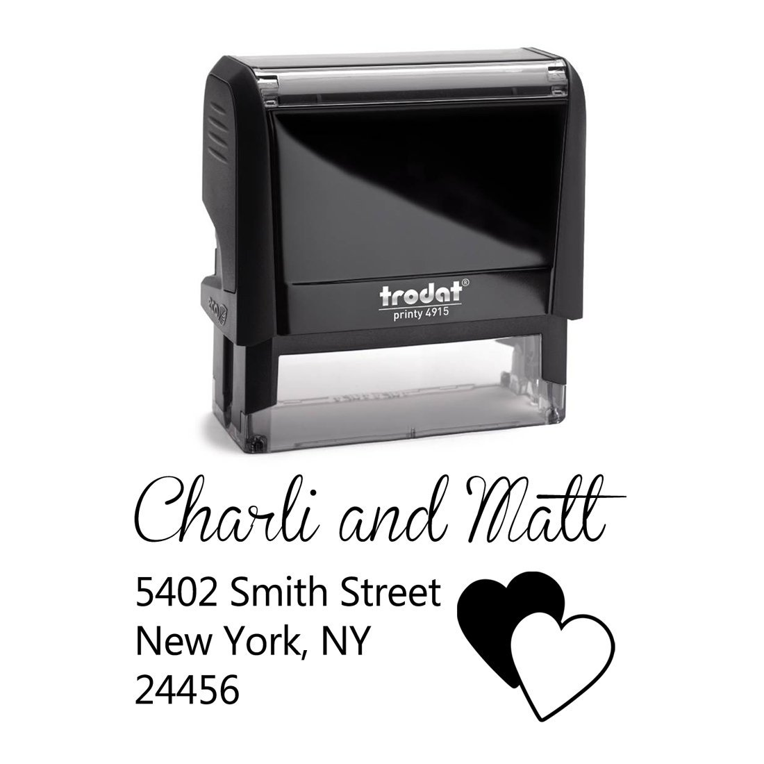 buy personalized self inking stamp return address stamp customized