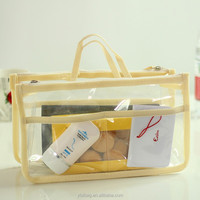 clear plastic cosmetic case with compartments