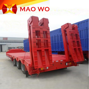 3 line 6 axle lowbed excavator transport multi axle trailer