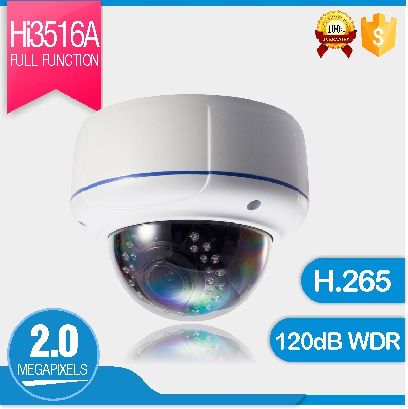 Security Super WDR 2MP IP Camera 2.8-12mm IR Varifocal Dome Camera Vandal proof P2P 1080p IP Camera