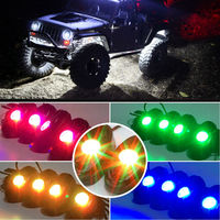 Offroad Bluetooth Control Under Car 12v 8pod 9W RGB Led Rock Lights Kit Waterproof
