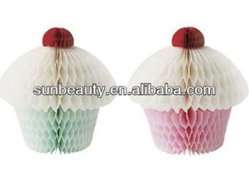 Fsc Paper Honeycomb Cake Birthday Decoration Items