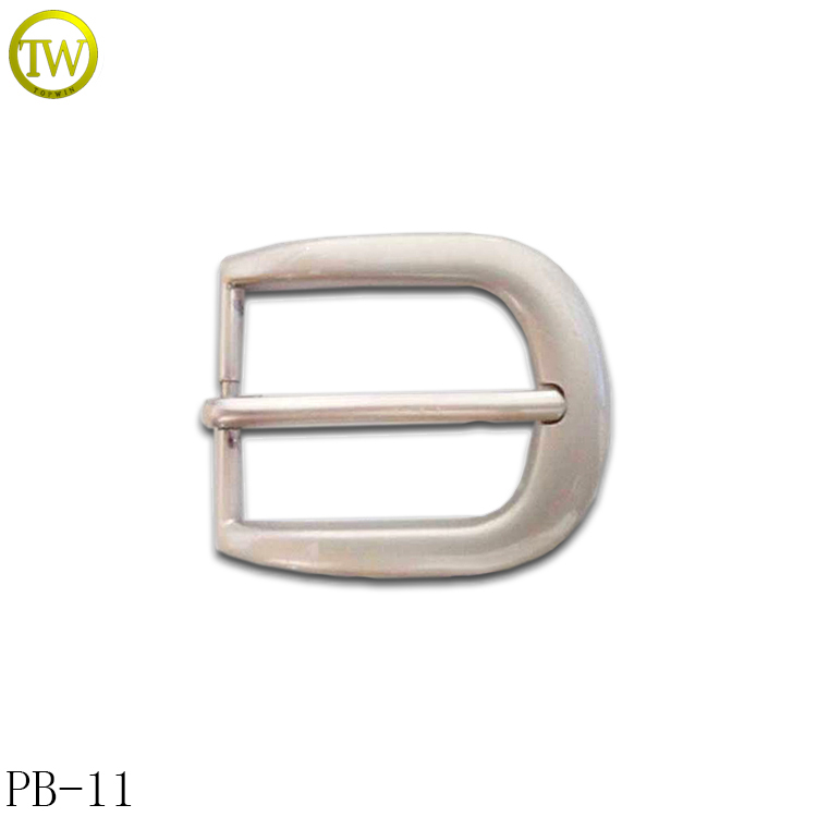 PB11 Customized pin buckle zinc alloy metal women pin leather clip belt buckle 30mm