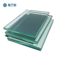 12mm 15mm thick polished edge toughened glass building house clear tempered glass