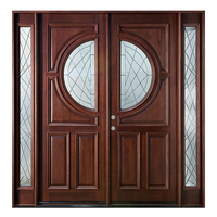 Latest Home Exterior Solid Simple Indian Front Main Wooden Double Door Design