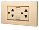 Durable Usb 13a Double 3 Pin Wall Socket