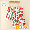 2016 flower patterns new designer baby girls one piece party dress women clothing party dress