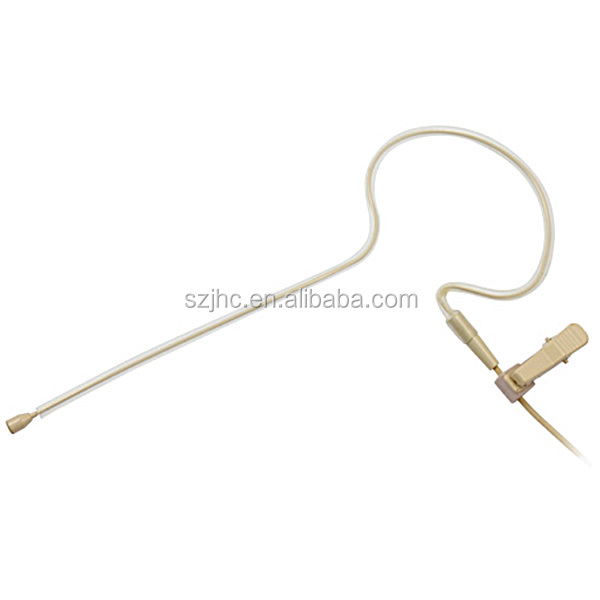 Ear hanging microphone for wireless body pack systems or pa amplifiers