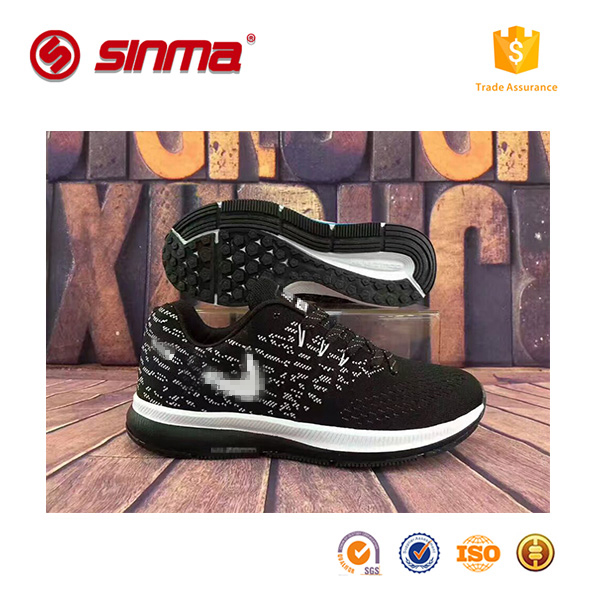 new design top sell sport shoes wholesale high quality cheap fly fabric upper sport shoes for men and women