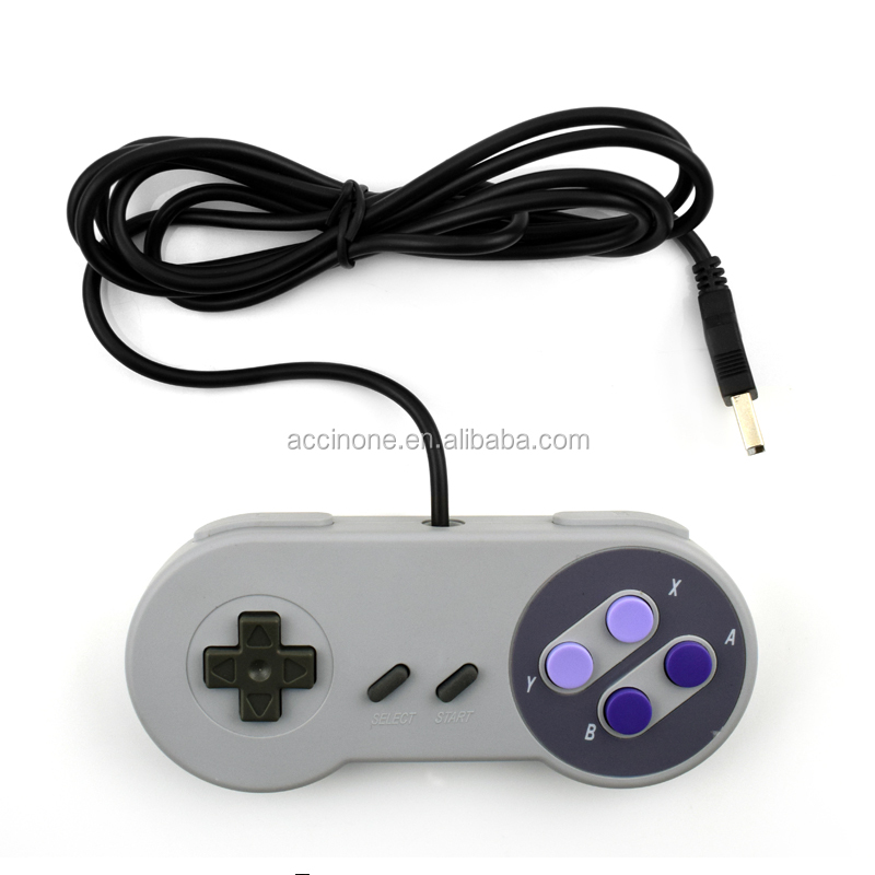 Groothandel Retro USB Game Controller Gaming Joystick Gamepad Controller voor SNES Stijl Windows PC MAC Computer Controle Joystick