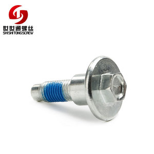 Anti Loosing Carbon Steel 8.8 10.9 12.9 Hexagon Head Clear Zinc Plated Screw