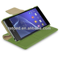 TETDED Premium Leather Case for Sony Xperia Z2 D6502 / D6503 / D6543 -- Gerzat IV (LC: Green)