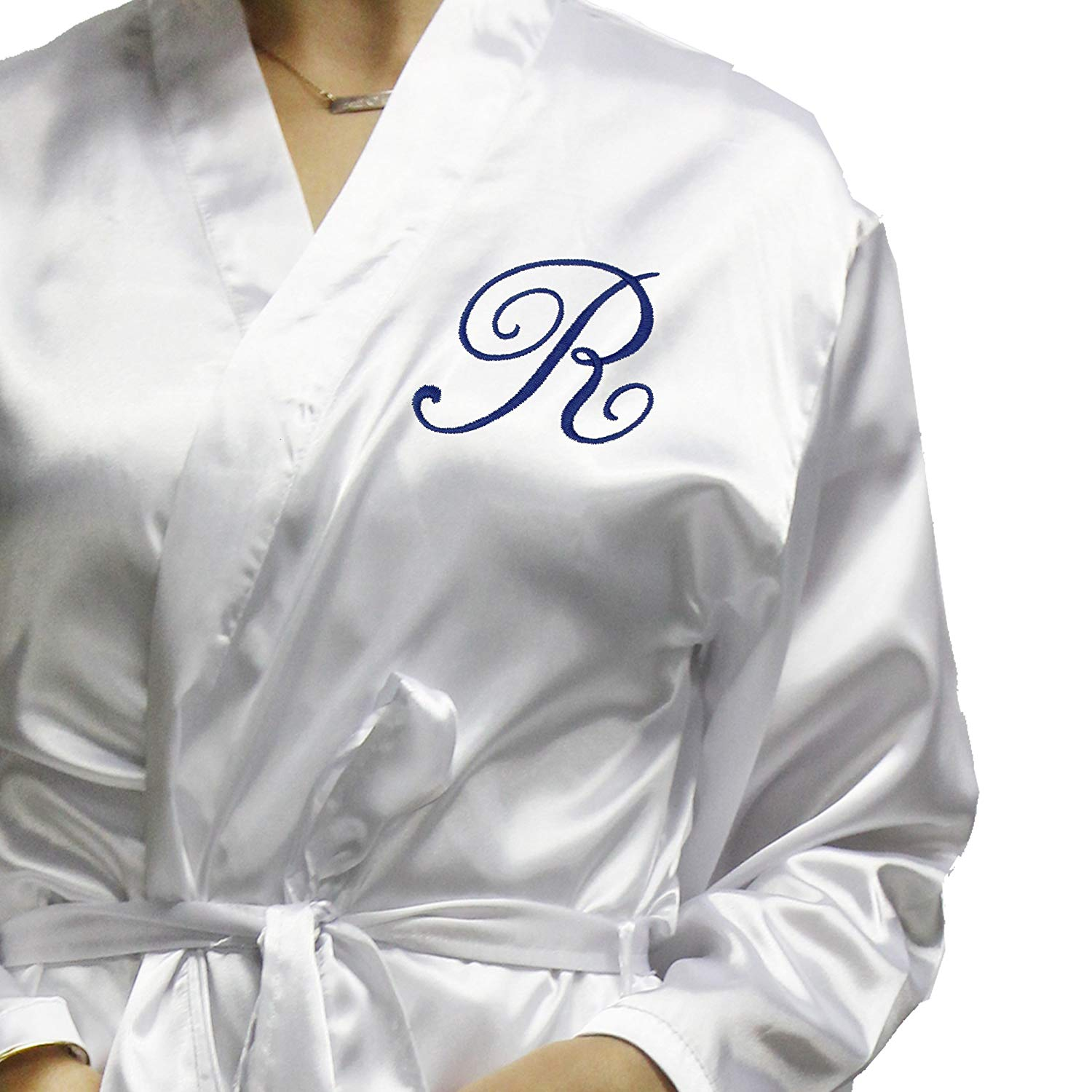 509b73b4e8 Get Quotations · Personalized Satin Bridesmaid Robe Gifts - Silky Monogram  Getting Ready Robes Set - Monogrammed for Free