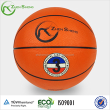 Shanghai Zhensheng Size 7 Rubber basketball for promotion with logo available