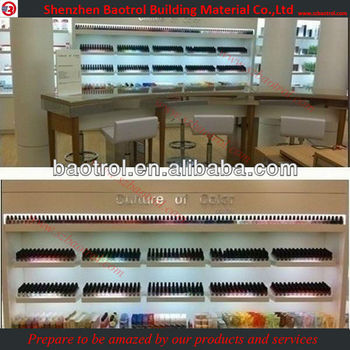 Approved factory supply commercial nail salon bar for Nail salon equipment and supplies