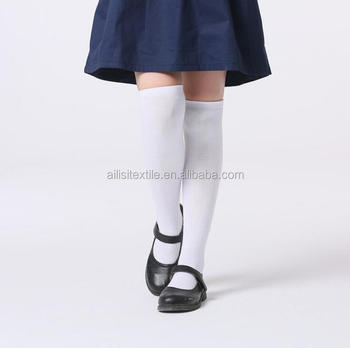 249aaa494cde7 2017 School Girl Knee High White Socks,Custom Teen Girl White Socks ...